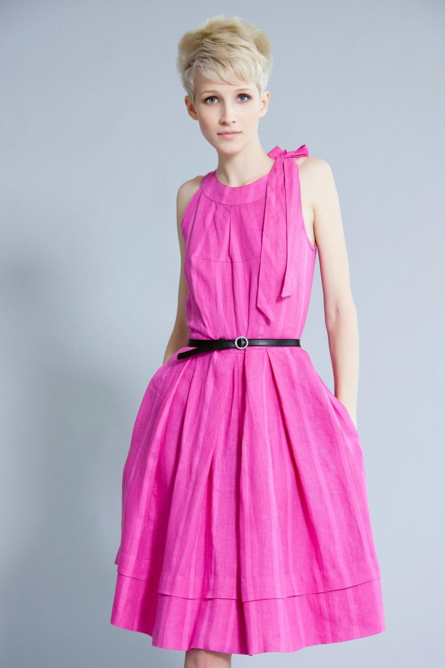 Платье с шипами розовое - ПЛАТЬЯ