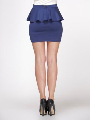Темно-синяя Юбка с баской / Одежда, достойная восхищения. Изысканные платья и юбки от 195 грн / Одежда и обувь